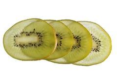 Kiwi slices. Over white Stock Photos