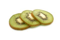 Kiwi slices. Isolated on a white background Royalty Free Stock Photos
