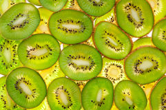 Kiwi slices for background Stock Image