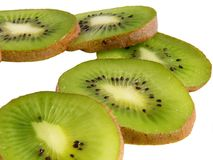 Kiwi slices background Stock Image