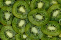 Kiwi slices background stock photos