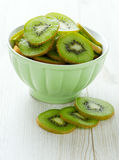 Kiwi slices in a bowl Royalty Free Stock Photography