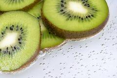 Kiwi slices in detail Royalty Free Stock Photo