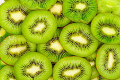 Kiwi,Slices of kiwi background Stock Photos