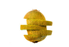 Kiwi,Slices of kiwi fruit on white background Royalty Free Stock Image