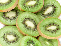 Kiwi slices macro picture. A macro picture from some fresh kiwi slices isolated on white background Stock Image