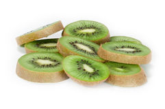 Kiwi slices macro picture. A macro picture from some fresh kiwi slices isolated on white background Stock Images