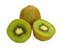 Kiwi and slices Royalty Free Stock Image