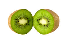 Kiwi slices on white background Stock Images
