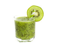 Kiwi smoothie in a glass Royalty Free Stock Images