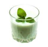 Kiwi Smoothie im Glas lizenzfreie stockfotografie