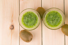 Kiwi smoothie and kiwi Stock Photo
