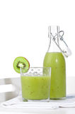 Kiwi Smoothie Setting royalty free stock photos