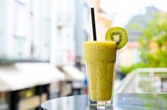 Kiwi smoothie. On the terrace Royalty Free Stock Photography