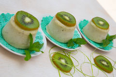 Kiwi sorbet Royalty Free Stock Images