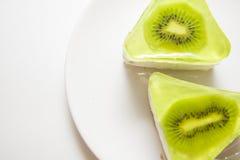 Kiwi souffle on white Stock Photography