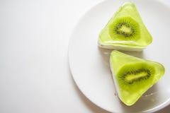 Kiwi souffle on white Stock Image