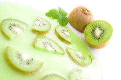 Kiwi soup Stock Images