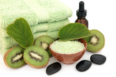 Kiwi Spa Treatment Royalty Free Stock Photos
