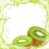 Kiwi splash Stock Image
