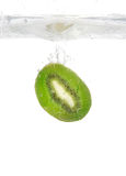 Kiwi splash Stock Image