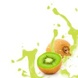 Kiwi splash Royalty Free Stock Photos