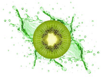 Kiwi splash Royalty Free Stock Image