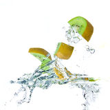 Kiwi splashing Royalty Free Stock Photos