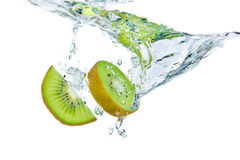 Kiwi splashing Stock Photo