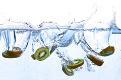 Kiwi splashing in water Stock Photo
