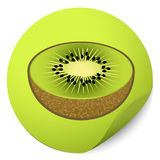 Kiwi sticker Royalty Free Stock Photos