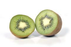 Kiwi stillife lokalisiert auf gesundem Nahrungskonzept des weißen Hintergrundes Stockbild