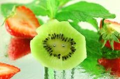 Kiwi with Strawberries Royalty Free Stock Photo