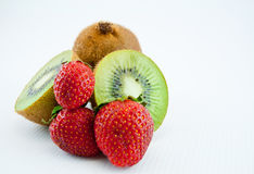 Kiwi and strawberries 3 Stock Photo