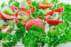 Kiwi and strawberries Royalty Free Stock Photography