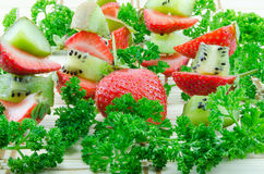 Kiwi and strawberries Royalty Free Stock Image