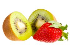 Kiwi and strawberry. Stock Photography