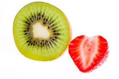Kiwi and strawberry. Stock Photo