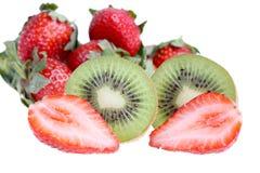 Kiwi and strawberry. Royalty Free Stock Photos