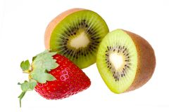 Kiwi and strawberry. Royalty Free Stock Photography