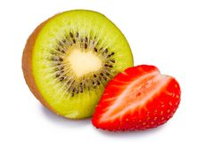 Kiwi and strawberry. Royalty Free Stock Images