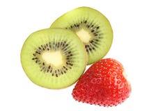Kiwi and strawberry. Stock Image