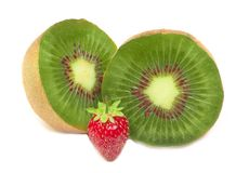 Kiwi and strawberry Stock Photos