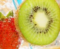 Kiwi Strawberry. A kiwi and strawberry drink Stock Image