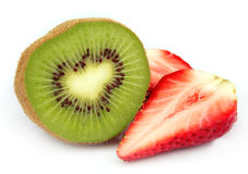 Kiwi and strawberry Stock Photography