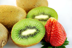 Kiwi and Strawberry. Stock Images