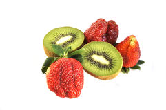 Kiwi and strawberry. Royalty Free Stock Photo