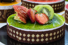 Kiwi and strawberry cake Royalty Free Stock Photos