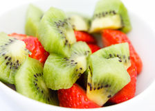 Kiwi and strawberry fruits Royalty Free Stock Photos