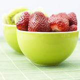 Kiwi and strawberry Royalty Free Stock Images